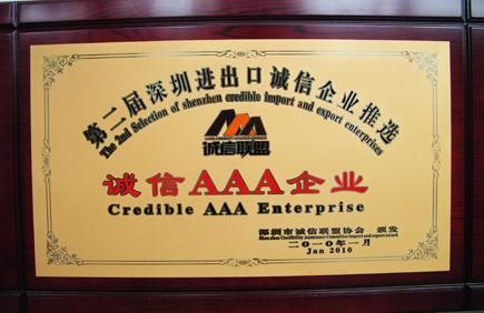 进出口诚信AAA企业